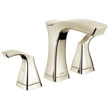 See Details - Polished Nickel Two Handle Widespread Bathroom Faucet - Metal Pop-Up
