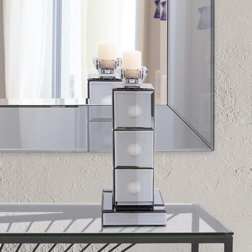 Howard Elliott - Grigio Mirrored Candle Holder