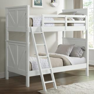 See Details - Tahoe Youth Twin over Twin Bunk Bed  Sea Shell