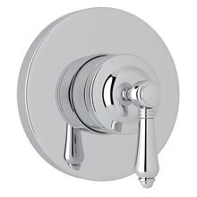 Polished Chrome Italian Bath 4-Port, 3-Way Diverter Trim with Metal Lever