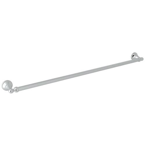 Georgian Era Wall Mount 31 1/2 Inch Single Towel Bar - Polished Chrome