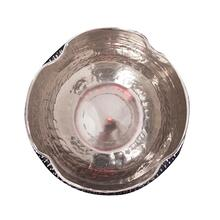 View Product - Textured Bright Silver Aluminum Pinch pot Votive Holder, Large