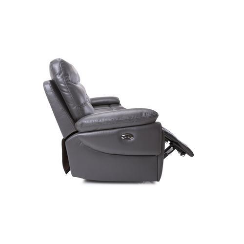 Grey Power Reclining Sofa