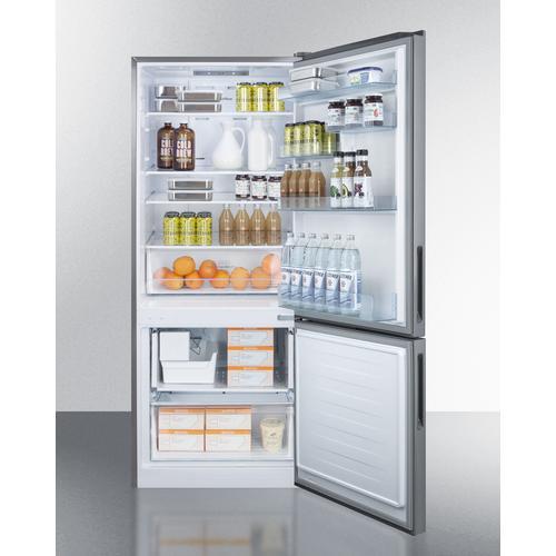 "Summit - 28"" Wide Built-in Bottom Freezer Refrigerator With Icemaker"
