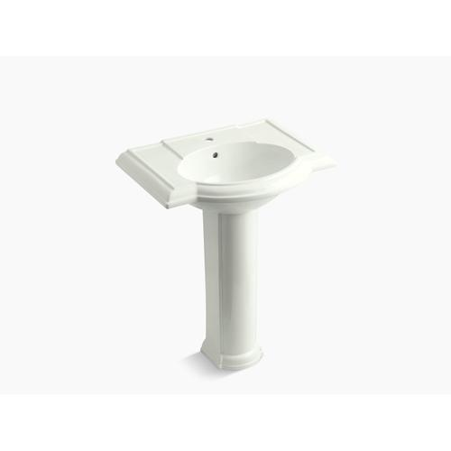 "Dune 27"" Pedestal Bathroom Sink With Single Faucet Hole"