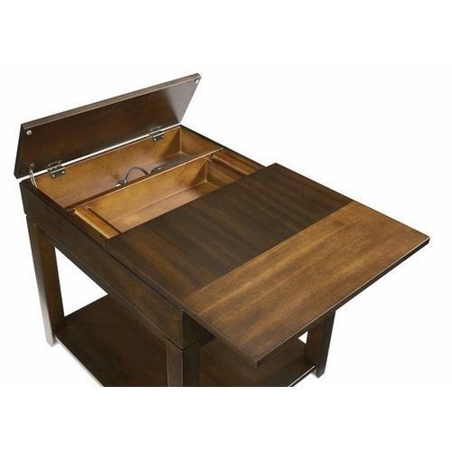 Rectangular End Table - Regal Walnut Finish