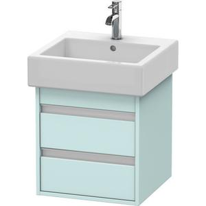 Vanity Unit Wall-mounted, Light Blue Matte (decor)