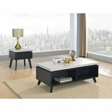 ACME Magna Coffee Table - 81095 - Faux Concrete & Black