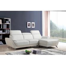 Product Image - Divani Casa Sterling Modern White Eco-Leather Sectional Sofa