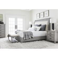 Willow Upholstered Bed - Pewter / California King