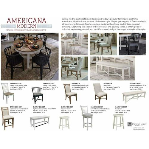 Gallery - AMERICANA MODERN DINING Bench Upholstered 58 in.