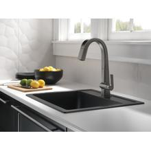 Black Stainless Single Handle Pull Down Bar/Prep Faucet