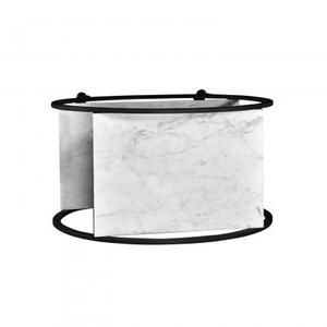 Silverlake Bar Cart/White Marble+Iron/Matte Black/30*16*32