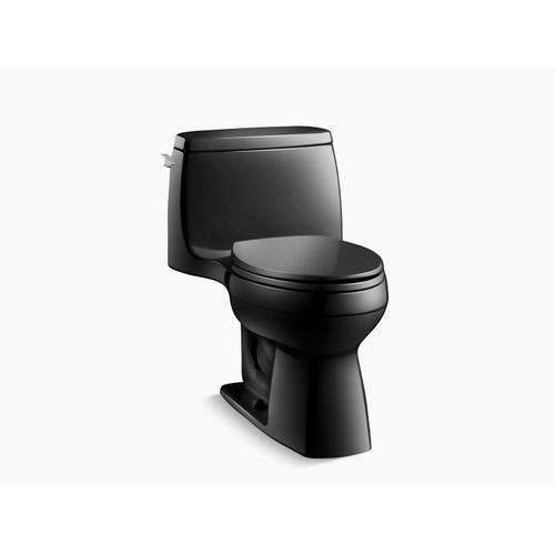 Black Black One-piece Compact Elongated 1.28 Gpf Toilet