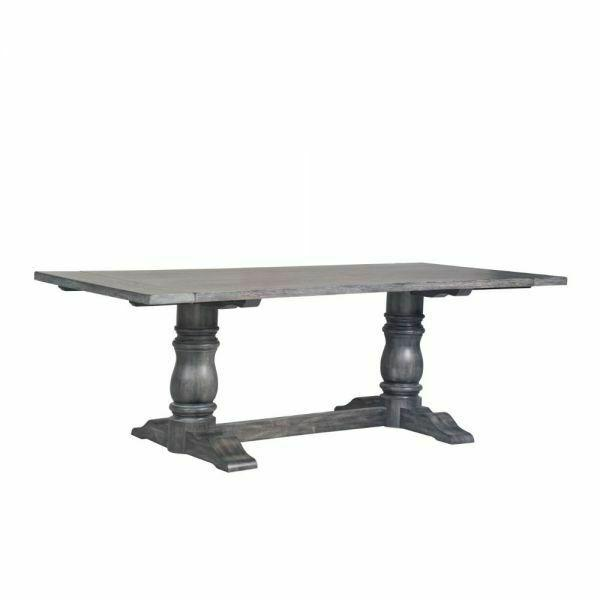 ACME Leventis Dining Table - 66180 - Weathered Gray