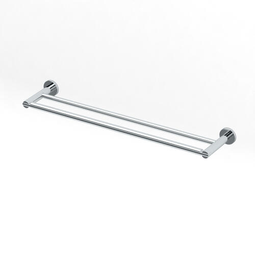 Channel Double Towel Bar in Satin Nickel