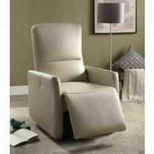 ACME Raff Recliner (Power Motion) - 59408 - Beige Leather-Aire