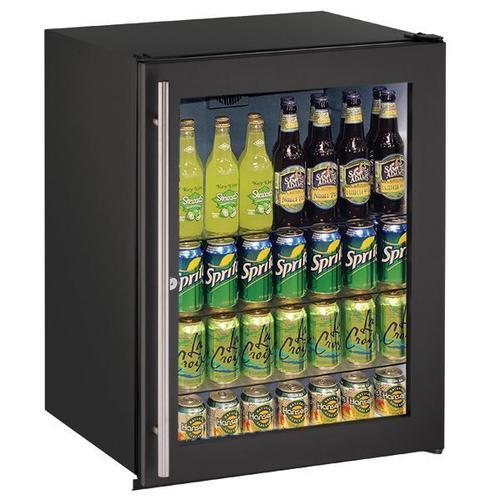 "U-Line - 24"" Refrigerator With Black Frame Finish (115 V/60 Hz Volts /60 Hz Hz)"