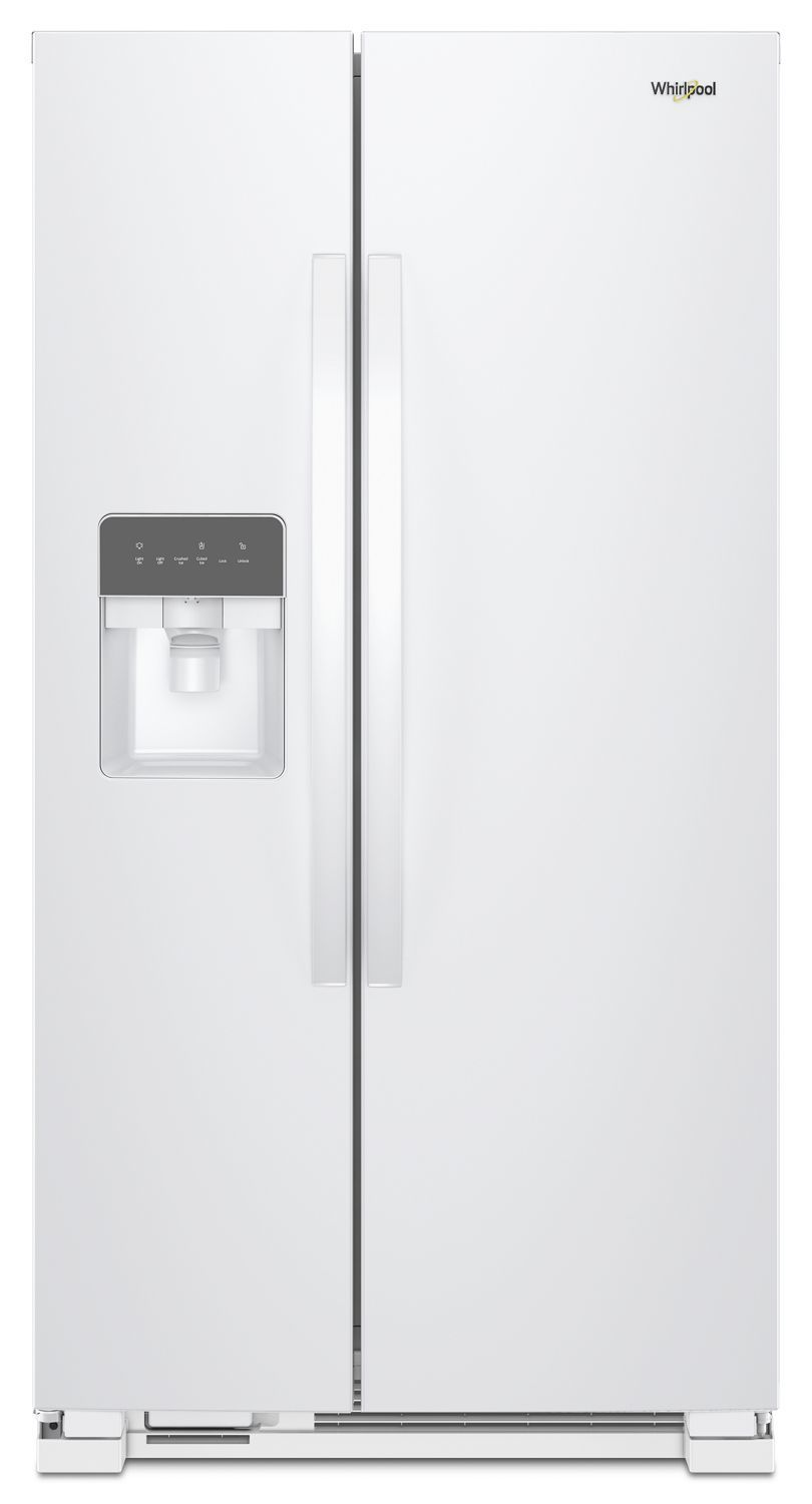 Whirlpool33-Inch Wide Side-By-Side Refrigerator - 21 Cu. Ft. White