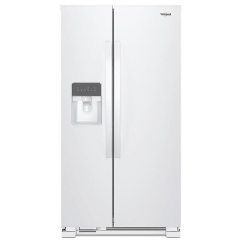Whirlpool - 33-inch Wide Side-by-Side Refrigerator - 21 cu. ft. White