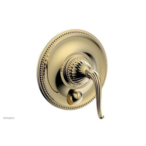 GEORGIAN & BARCELONA Pressure Balance Shower Plate with Diverter and Handle Trim Set PB2141TO - Polished Brass Uncoated