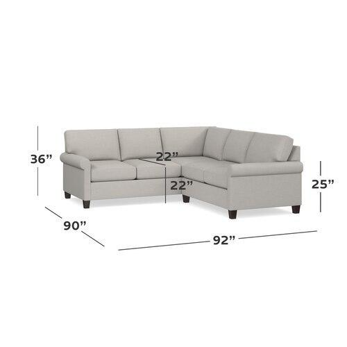 Bone Spencer Small L-Shaped Sectional