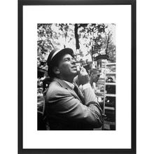 Frank Sinatra Camera (16 X 20) Black and White Print With Black Lacquer Frame