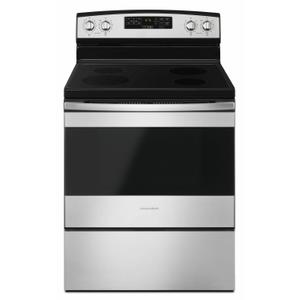 AMANA30-inch Electric Range with Self-Clean Option - Black-on-Stainless