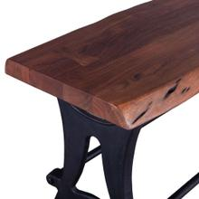 See Details - Organic Forge Live Edge Counter-Height Bench