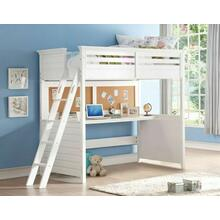 ACME Lacey Loft Bed w/Desk (Twin) - 37670 - White