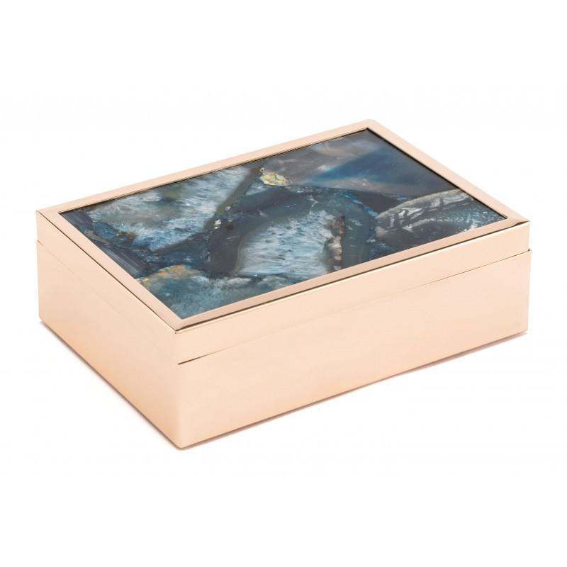See Details - Large Stone Box Blue