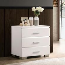 See Details - Carlie Night Stand W/ 3 Drawers