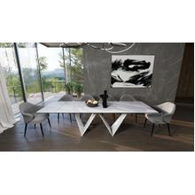 View Product - Modrest Fritz - Modern White Ceramic Dining Table