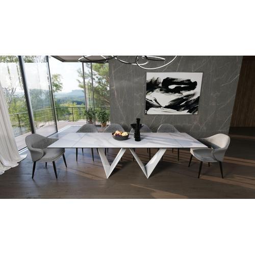 Gallery - Modrest Fritz - Modern White Ceramic Dining Table