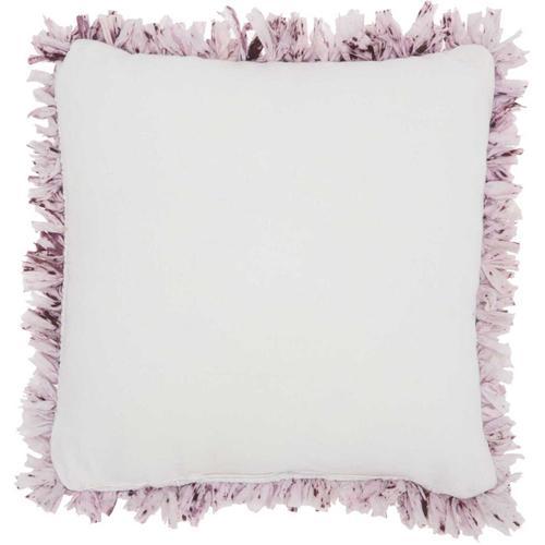 """Shag Dl860 Lavender 17"""" X 17"""" Throw Pillow"""