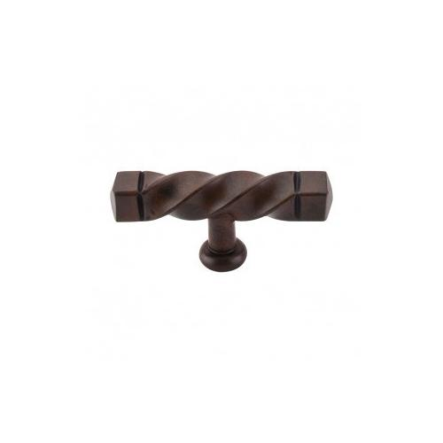 Top Knobs - Square Twist T-Handle 3 3/16 Inch (c-c) - Patina Rouge