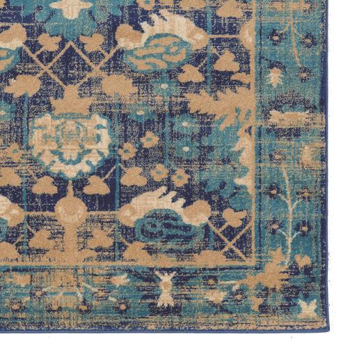 Serape Hamadan Turquoise 5x7 6 In