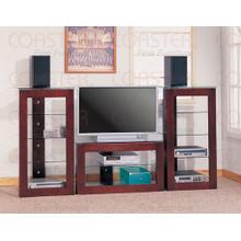See Details - Dark Brown TV Stand