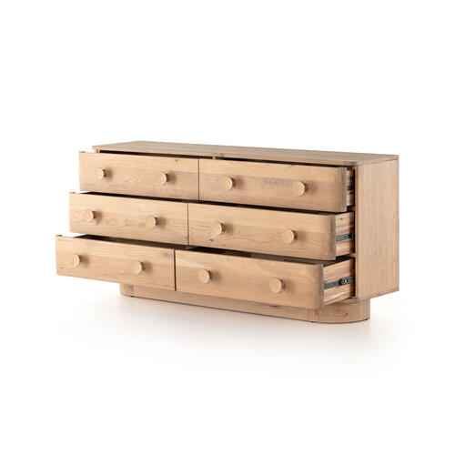 Mallory 6 Drawer Dresser-light Oak
