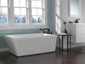 Matte Black Two Handle Centerset Lavatory Faucet - Metal Pop-Up Product Image