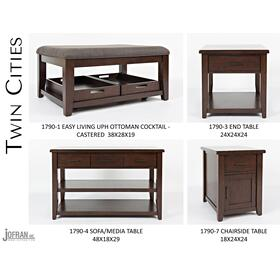 Twin Cities Chairside Table