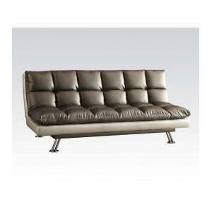 Acme Furniture Inc - Silver Black Adjustable Sofa