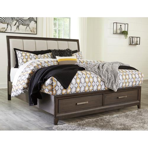 Brueban - Gray 3 Piece Bed (King)