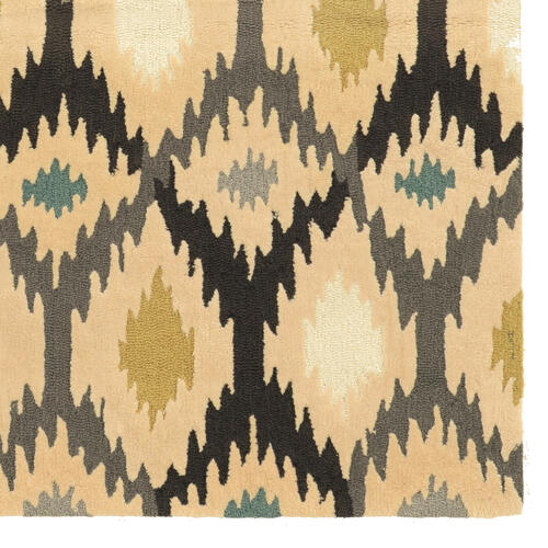 Trio Ikat Ivory/grey1ft10inx2ft10