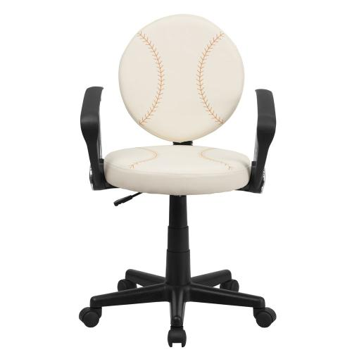 Baseball Swivel Task Chair with Arms