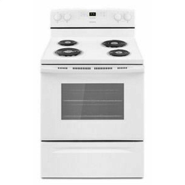 Amana 30-inch Electric Range with Bake Assist Temps - White