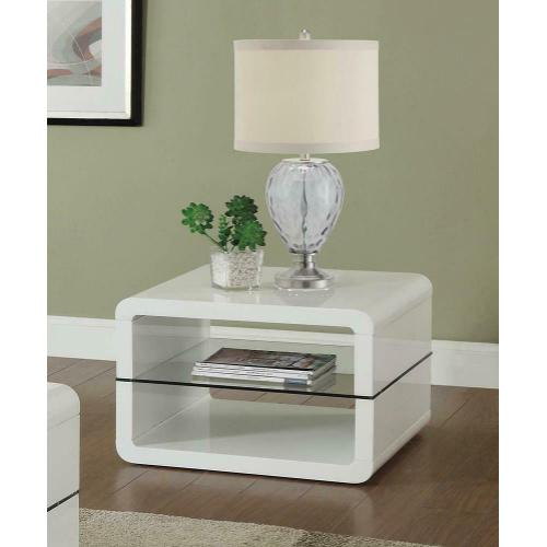 Product Image - Modern White End Table