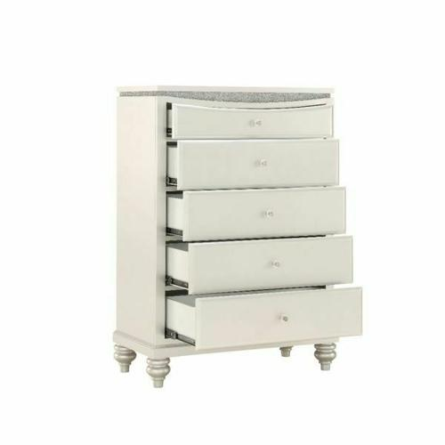 ACME Maverick Chest - 31813 - Glam - Wood (Poplar), MDF - Platinum