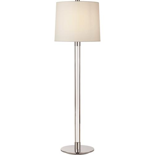 AERIN Riga 33 inch 75 watt Crystal and Polished Nickel Buffet Lamp Portable Light