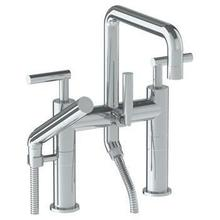 Deck Mounted Exposed Square Bath Set With Hand Shower
